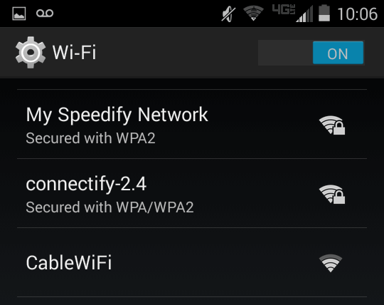 Speedify Network on Mobile Device