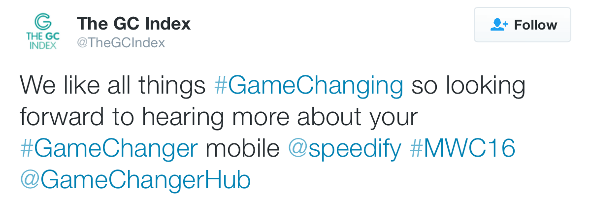 Speedify Mobile is a #GameChanger at #MWC2016