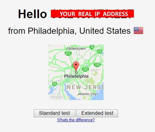 Real IP Address