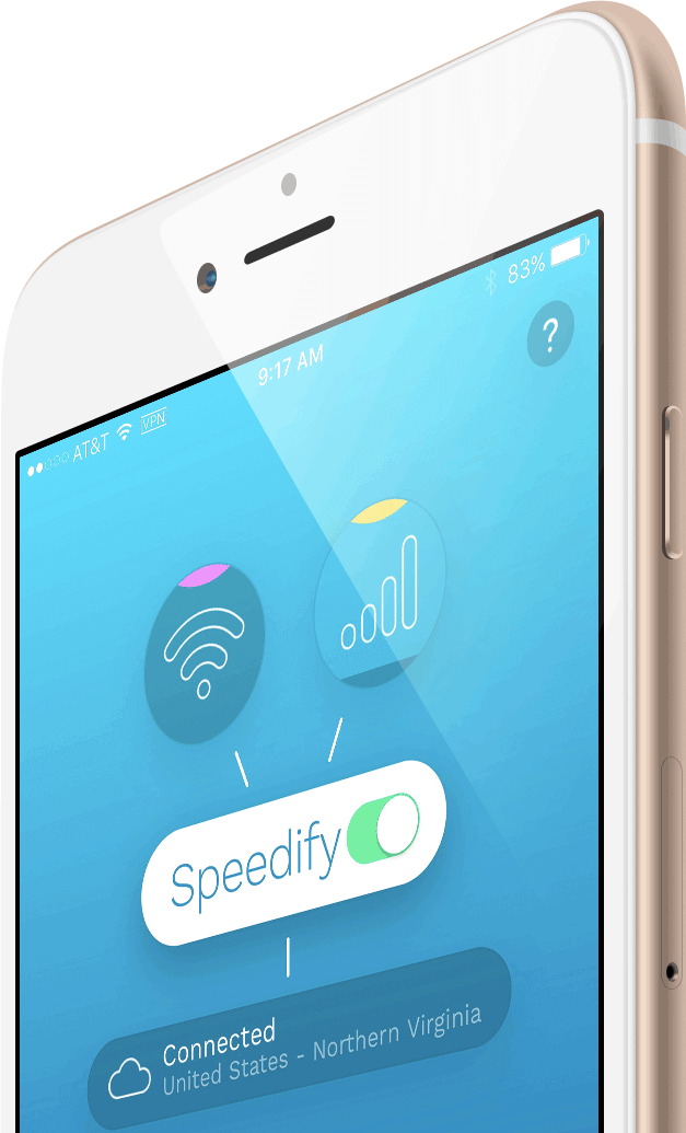 Captura de pantalla de Speedify para iOS y Android